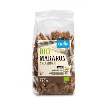 Bio Makaron pełnoziarnisty z płaskurki JEŻYKI (250 g)
