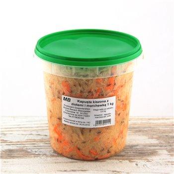 Kapusta kiszona z ziołami i marchewką